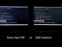Boot Time comparison between Sony Vaio CW and Dell Inspiron