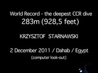 CCR world record 283m / Dahab /Egipt