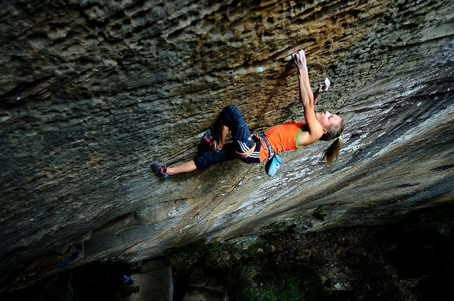 "Sasha DiGiulian.  ""Pure Imagination""  5.14d (9a)."