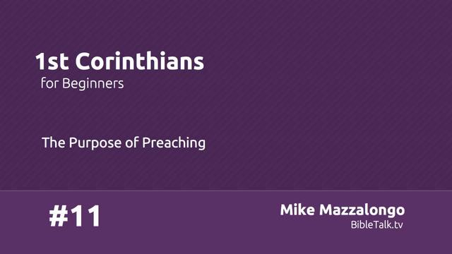 Purpose of Preaching