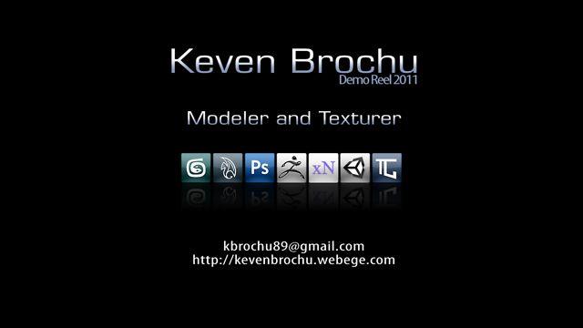 Demo Reel 2011 - 3D Modeling & Texture (Keven Brochu)