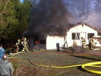 Sequim house fire doused