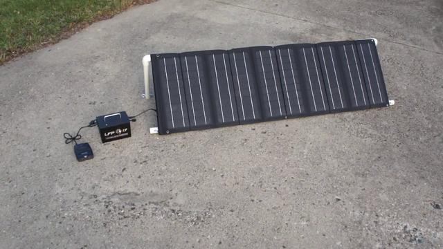 LFP 17 Portable Solar Power Generator System Overview