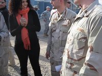 Singing to Jordin Sparks, USO Tour Kuwait - 15 DEC 2011