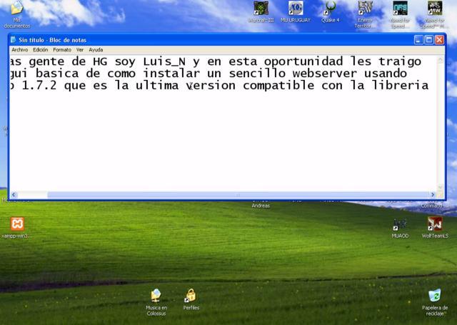 Instalar Webserver Basico Con Xampp En Windows Xp