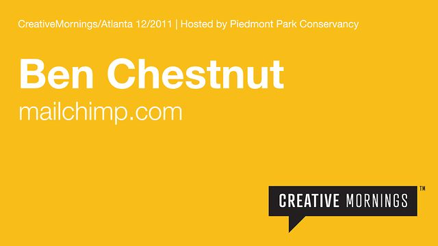 Ben Chestnut, co-founder of Mailchimp shares his story