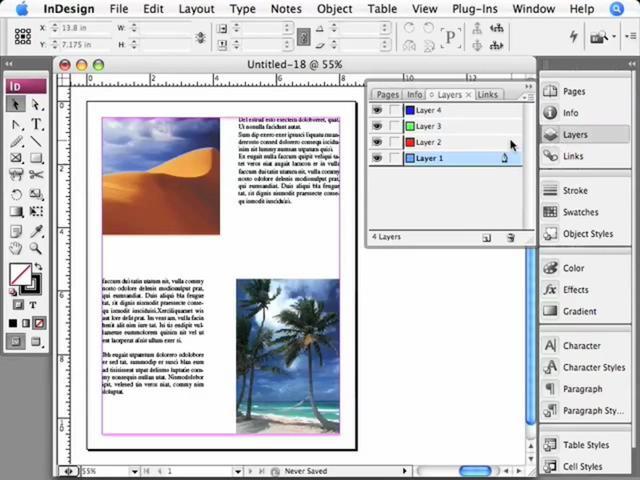 InDesign - Crear, borrar y duplicar capas