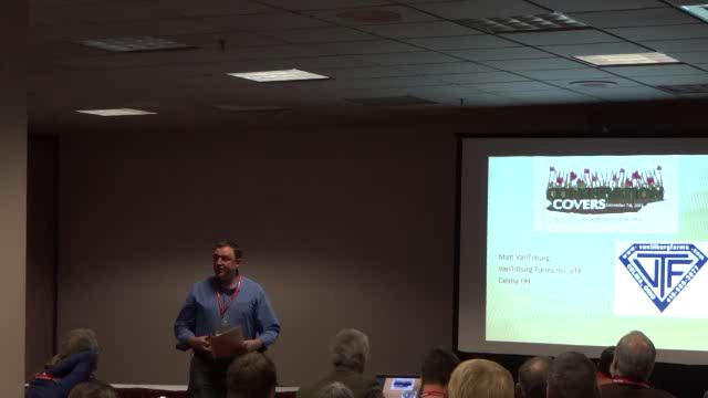 Matt VanTilburg, Ohio Farmer, Session A - Cover Crop Planting Techniques