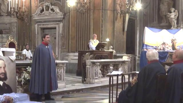 Napoli - Messa in onore di Francesco II di Borbone - L&#039;omelia