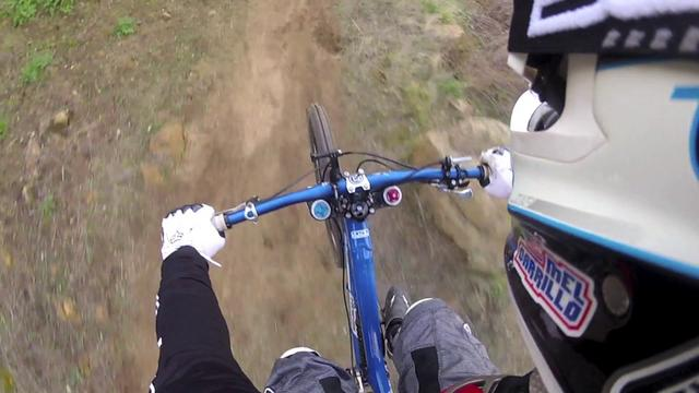 Downhill Mountain Biking Crash on my Intense 951 on Vimeo - Breaking down my crash frame by frame to find the cause of my crash.  I have done this jump more than a dozen times without incident.    I was wearing a Fox Pressure Suit, TLD Lopes shin/knee pads, EVS neck brace and D3 Helmet.  Looking back at the...