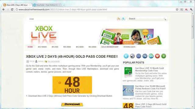 xbox live gold code generator no download