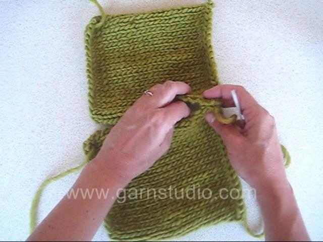 Knitting Joining Side Seams : Drops technique tutorial how to sew a side seam on