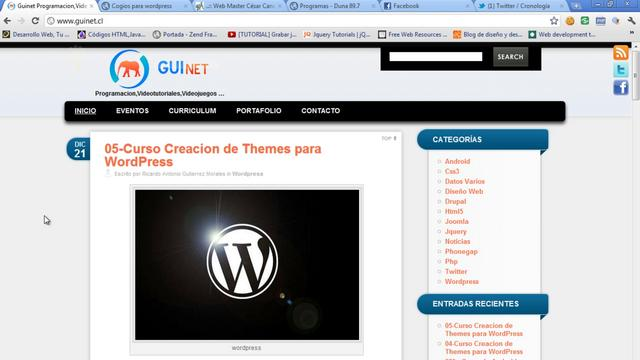 WordPress - Hacer un theme para WordPress 06