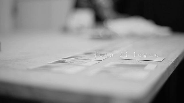 foto di legno - save the date