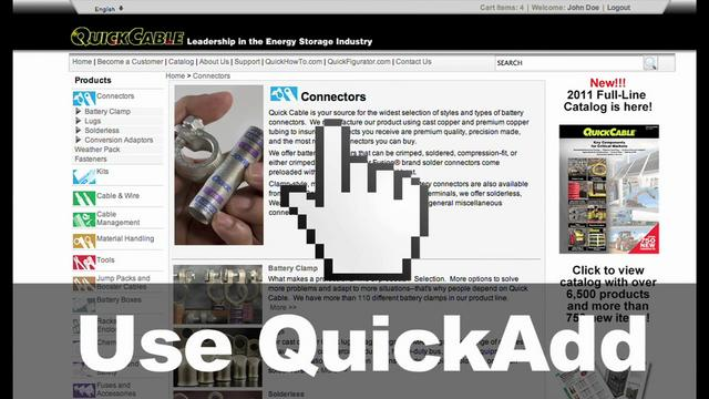 Quickcable.com: Using Quick Add