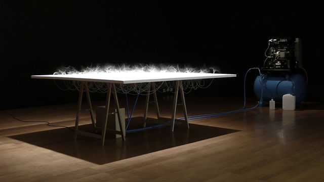 &quot;97 polysiloxane hoses 3.0mm, compressed air&quot; (2010) by Zimoun