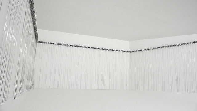 """216 prepared dc-motors, filler wire 1.0mm"" (2009/2010) by Zimoun"