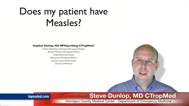 Does my patient have measles?