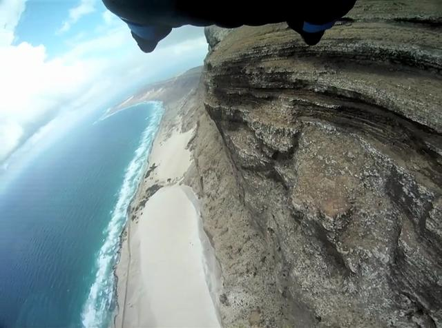 Wingsuit Drop from Paraglider