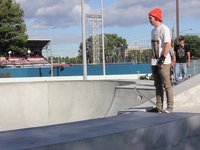 Kélian Duplain at the skatepark