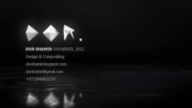 Dor Shamir- Showreel 2012