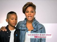 Toni &amp; Diesel Braxton WE tv PSA Styled by Beagy Zielinski