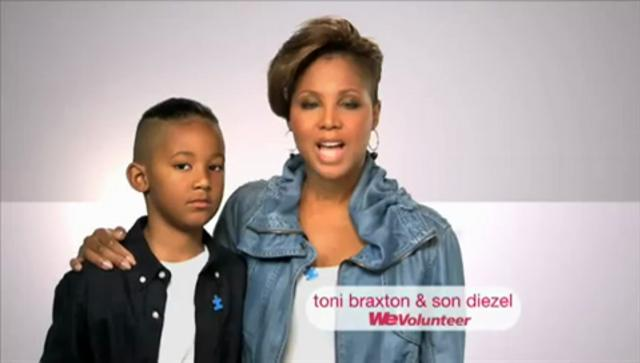 Toni & Diesel Braxton WE tv PSA Styled by Beagy Zielinski