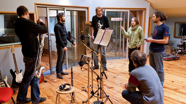 L'Aquarium Orchestra en session studio