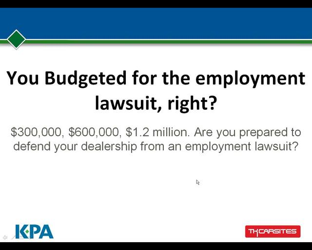 You Budgeted for the Employment Lawsuit, Right?