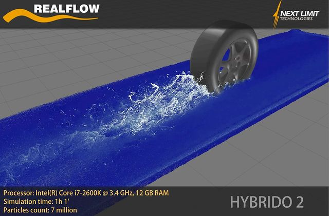 Wheel HYBRIDO2. RealFlow 2013 is coming!