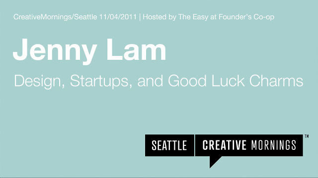 Design, Startups, and Good Luck Charms – a talk by Jenny Lam co-founder of Jackson Fish Market