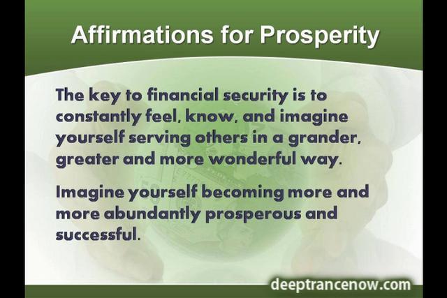 Prosperity affirmations youtube