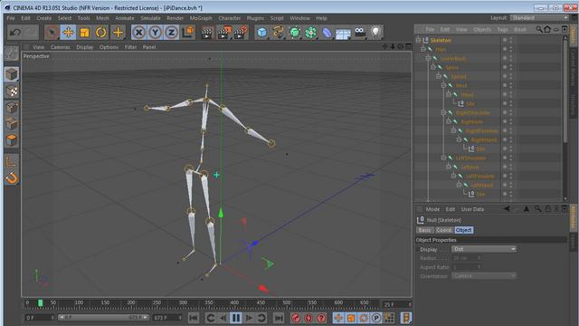 Importing iPi generated BVH file into C4D