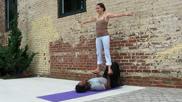 Acro yoga acroyoga practice session w x and x 2009 september lex