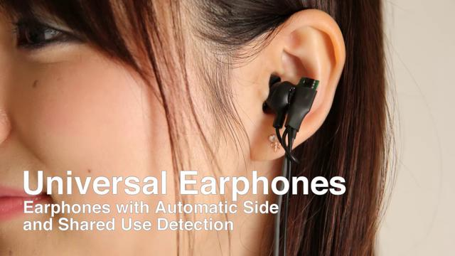 Universal Earphones: Earphones with Automatic Side and Shared Use Detection