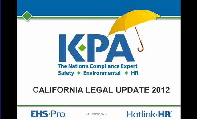 California HR Legislative Update