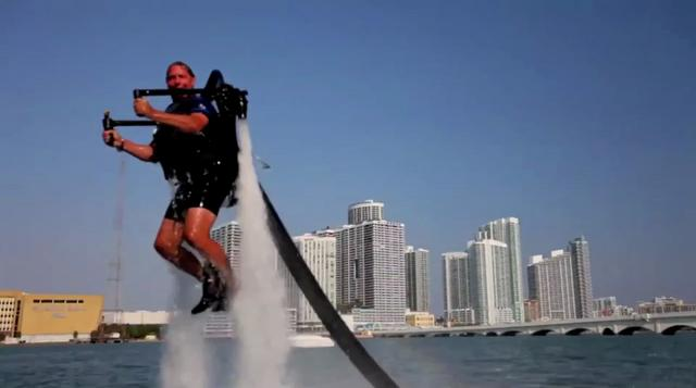 El Jetpack para volar sobre el agua