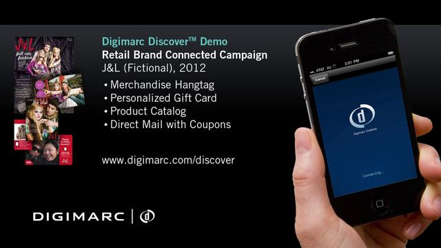 Retail Brand Connected Campaign - Digimarc Discover Demo