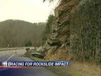 Rick Laney discusses I-40 rock slide with WBIR's Brittany Bailey