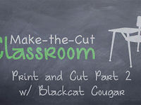 Print and Cut Part 2 BlackCat Cougar
