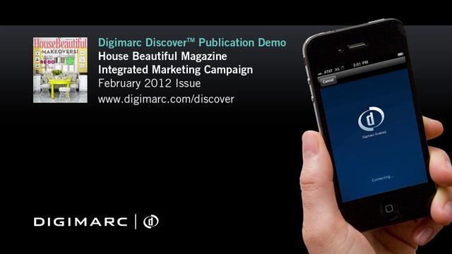 House Beautiful (Integrated Marketing Campaign) - Digimarc Discover Example