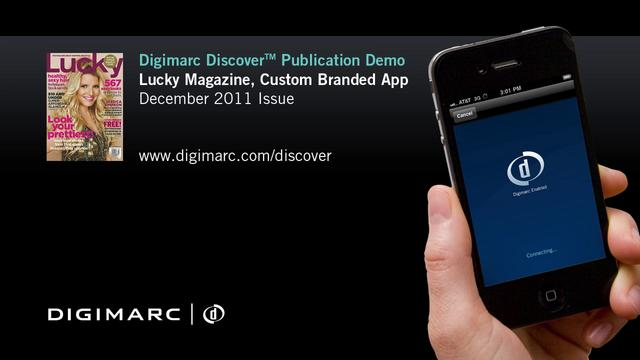 Lucky Magazine (Custom Branded App) - Digimarc Discover Example