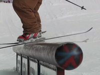 How to do a Down Rail on Telemark Skis w/ Dylan Garner