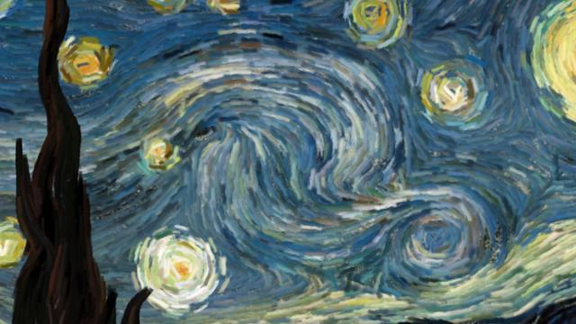 Thumbnail of video Starry Night (interactive animation)