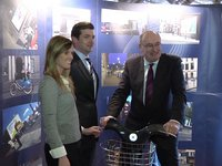 Mr. Phil Hogan, T.D., Minister for the Environment, Community and Local Government highlights the benefits of Cycle Lanes