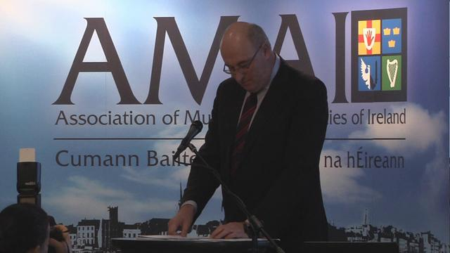 Mr. Phil Hogan, T.D., Minister for the Environment, Community and Local Government addresses the AMAI Seminar 2012