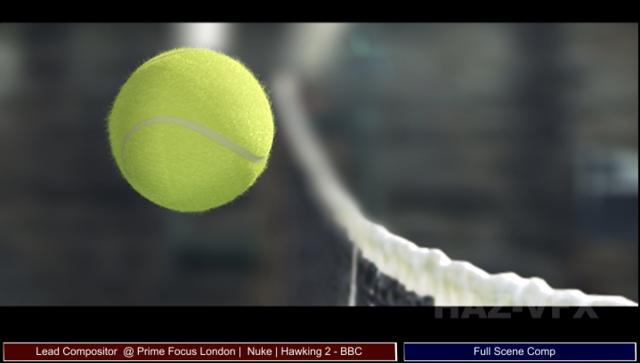 CG Tennis Ball Shot 1 for New Series 2011 of Hawking.