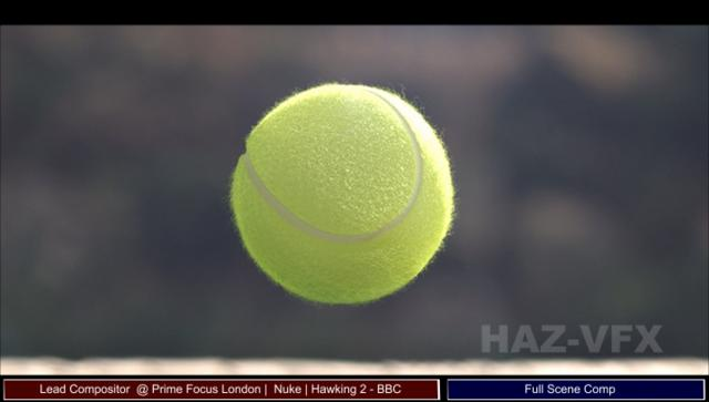 Tennis Ball Shot 2 (close up) for Series 2011 of Hawking