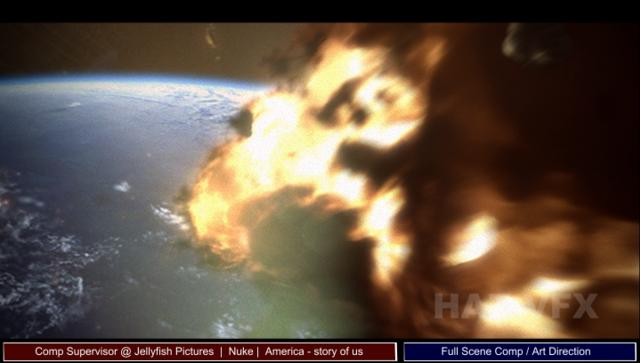 Meteorite entering atmosphere shot: America The Story of US