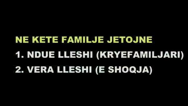 SITUATA E FAMILJES LLESHI NGA BALLDRENI, LEZHE, SHQPERI, SHKURT 2012